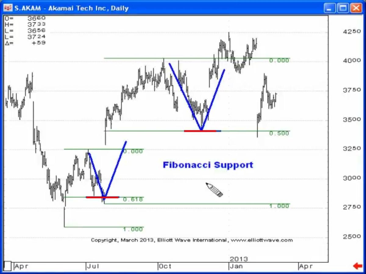 fibonacci support